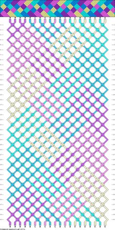Macrame bracelet pattern