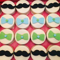 """""""Little Gentleman"""" baby shower Oreos www.sweetanniesbakedgoods.com"""