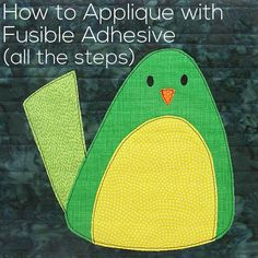 I've been doing a lot more applique with fusible adhesive lately (now that I've discovered some products I really like) and I've been getting requests for some more tutorials for it. Ask and you shall receive. I've already got a basic applique with fusible adhesive video here, but it only shows fusing down one piece …