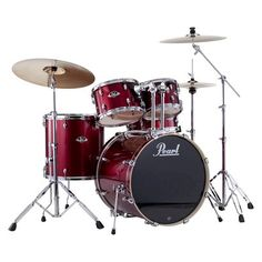 Pearl Export 5 Piece Drum Kit Red DRSEXX725SC91