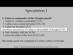 1 Nephi 4:19-38 (LABAN AS COMMANDER OF TEMPLE GUARD?)