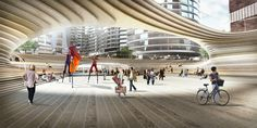 Gallery - BIG Unveils Design For Battersea Power Station Square - 2