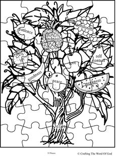 Fruit Of The Spirit Jesus Is Vine Puzzle Activity Sheet Sheets Are A Great Way To End Sunday School Lesson