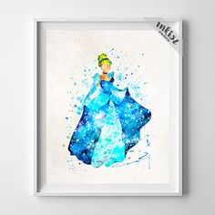Princess Cinderella, Disney Poster, Cinderella Poster, Cinderella Art, Disney Artwork, Cinderella Gift, Holiday Gift, Type 4, Gift For Him, Wall Art. PRICES FROM $9.95. CLICK PHOTO FOR DETAILS.#inkistprints #watercolor #watercolour #giftforher #homedecor #wallart #walldecor #poster #print #christmas #christmasgift #weddinggift #nurserydecor #mothersdaygift #fathersdaygift #babygift #valentinesdaygift #painting #dorm #decor #livingroom #bedroom