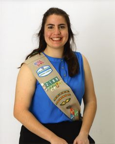"""#GirlScout Elisabeth - Through her Gold Award project, """"Understanding Others Opinions,"""" Elisabeth taught middle school students the art of compromise. Elisabeth worked to create an atmosphere where a difference of opinion would be one of acceptance, not disagreement. #goldaward #gsnc"""