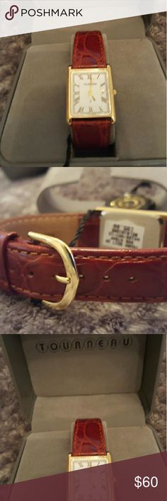 Ladies Leather Band watch Elegant, Every Day Watch Tourneau Accessories Watches