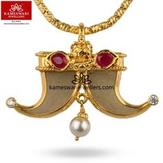 Lakshmi With Ruby's Mini Tigernail Mens Gold Jewelry, Emerald Jewelry, Gold Jewellery Design, Gold Jhumka Earrings, Gold Necklace, Gold Pendants For Men, Locket Design, Ankle Jewelry, Pendant Design