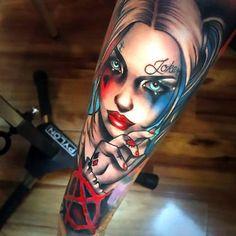 Harley Quinn Tattoo Sleeve Tattoo Idea