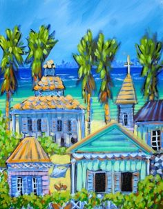 Cayman Houses by Hannah Cook.