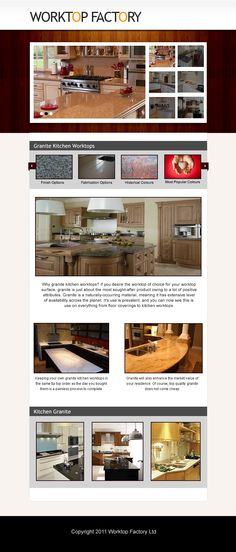 When you buy from The Worktop Factory you are buying at the most competitive prices available in the UK. We offer fantastic prices without compromising on our quality. Why go for man-made materials when you have the real thing at such fantastic prices!Visit our site http://worktopfactory.co.uk/ for more information on Kitchen Granite