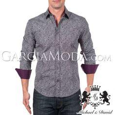 Camisa Michael & David Luxury Menswear MD-713-Black