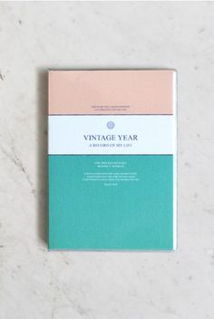 Undated diary at NoteMaker - perfect for those that don't like the restrictions of the start dates of standard diaries! And pretty too! This one: Seeso Graphics - Vintage Journal (Diary) - Mint  #stationery