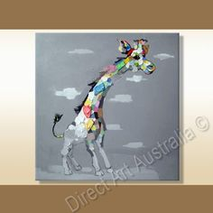 The Running Giraffe, Cool Framed Art For Room decoration - Direct Art Australia,  Price: $149.00,  Availability: Delivery 14 - 21 days,  Shipping: Free Shipping,  Minimum Size: 50 x 60cm,  Maximum Size: 90 x 120cm,   Huge Online Gallery - have a browse!  http://www.directartaustralia.com.au/
