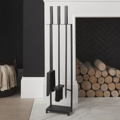 Black Fireplace Tools - Crate and Barrel