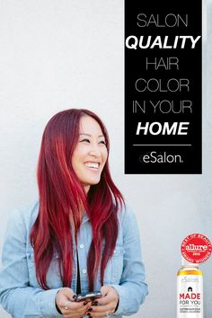 You have a bold personality, your hair should follow suit! Get vibrant hair color in shades of honey, caramel, blonde, red, brown and brunette with eSalon! Find your perfect color in just 3 easy steps. Check out why this home hair color was voted #1 by Allure today.