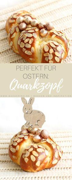 Weiter geht's mit Ostern: Fluffiger Quarkzopf mit Mandeln   Bäckerina