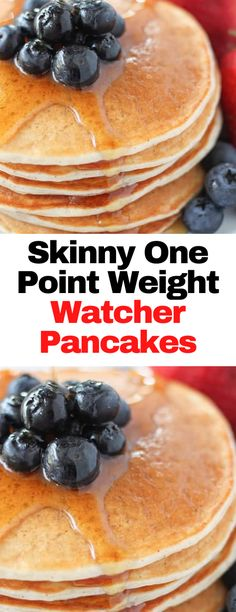 Skinny One Point Weight Watcher Pancakes #Skinny #One #Point #WeightWatcher #Pancakes Skinny Recipes, Ww Recipes, Low Calorie Recipes, Light Recipes, Healthy Recipes, Breakfast Dishes, Breakfast Ideas, Breakfast Recipes, Weight Watchers Pancakes