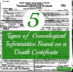 Death certificates are a commonly used document in genealogy research.  Are you getting ALL of the information you could from them?