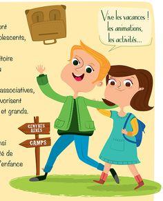 Illustration pour brochure animation jeunesse