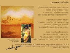 Prosa e Poesia Catia Garcia: Leveza de um sonho - texto e tela premiada