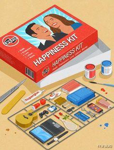 Kit felicidade: mercado de emoções?  arte: John Holcroft