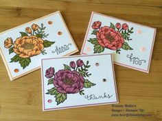 Pals Paper Crafting Card Ideas Birthday Blooms Mary Fish Stampin Pretty StampinUp