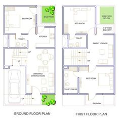 2 bhk floor plans of 25 * 45 20x30 House Plans, Modern House Plans, Small House Plans, Duplex Floor Plans, House Floor Plans, Duplex House Design, Small House Design, The Plan, How To Plan