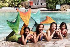 mermaids at pool