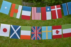 Make your yard festive and put your guests in the Olympic spirit by creating several flag garlands to swag around the yard.
