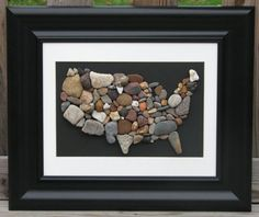 Pebble Art The USA Rocks Map of the USA by PumpkinandParsnip, $85.00
