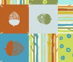 NUTTY PATCHWORK fabric by trcreative on Spoonflower - custom fabric