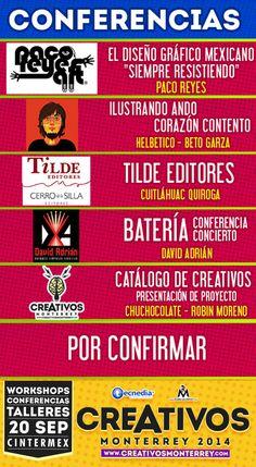 Conferencias de #creativos este 20 de Septiembre en #cintermex y tu ya compraste tu boleto!! www.creativosmonterrey.com