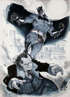 Batman vs. Penguin by Stefano Caselli