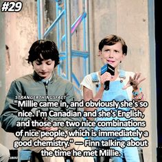 So cute. I live for Finn and Millie's friendship they have! It is adorable❤️❤️