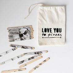 DIY Valentine photo puzzle in cut little storage bag
