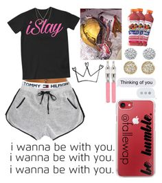 """""""thinkin bout my baby, who ain't my baby, yett"""" by fallewap ❤ liked on Polyvore featuring Casetify, Tommy Hilfiger, Islay, Everlasting Gold, Jamie Wolf, Palm Beach Jewelry and Sydney Evan"""