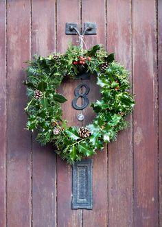 Make a wreath using holly.