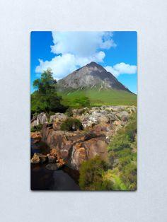 """Buachaille Etive Mor in the Highlands of Scotland"" Metal Print by goldyart Highlands, Scotland, Print Design, David, Wall Art, Metal, Artist, Artwork, Prints"