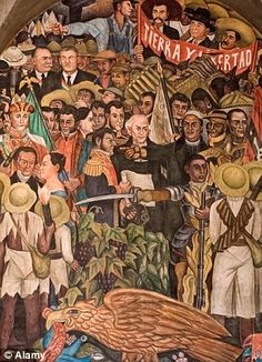 Diego Rivera Famous Murals | An education: Diego Rivera's mural inside the Palacio Nacional deals ...