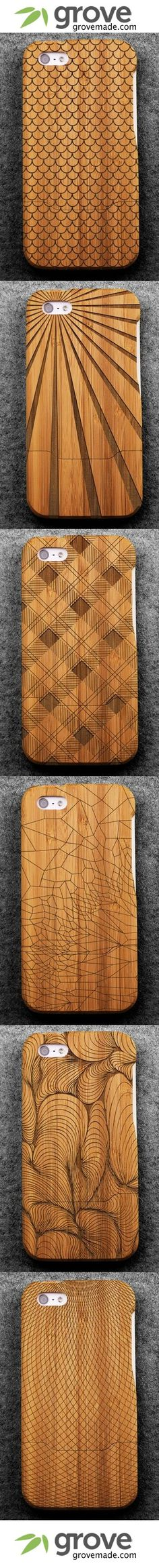 Engraved Bamboo wooden iPhone case, I don't have an iPhone but these are still pretty sweet