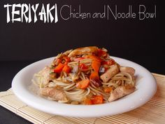 Teriyaki Chicken and Noodle Bowl.  We love these and you add what ever veggies you want.  Also the sauce is great to just throw in the crockpot with chicken.