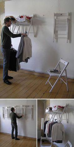 Chair Into ShelfCloset Unit