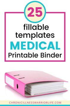 Medical Blogs, Medical History, Medical Care, Binder Organization, Bedroom Organization, Family Emergency Binder, Binder Templates, Household Binder, Medical Information