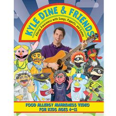 Kyle Dine is a food allergy educator and entertainer. With his puppet friends, he helps children understand food allergies and how to help keep everybody safe. Great for kids with food allergies and their friends and classmates. Kids Allergies, Allergy Asthma, Back To School Essentials, Teaching Kids, Kids Meals, Entertaining, Dining, Puppets, Spanish