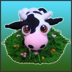 Amigurumi Crochet Pattern pdf  Aurora The Cow by DeliciousCrochet, 6.20