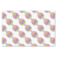Happy Easter Painted Egg Wrapping Products Tissue Paper - paper gifts presents gift idea customize