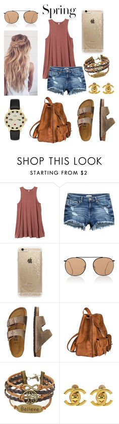 """Untitled #79"" by kikibrinson02 on Polyvore featuring RVCA, Rifle Paper Co, Illesteva, TravelSmith, Yves Saint Laurent, Chanel, Kate Spade and H&M"