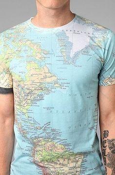 map t-shirt social studies teacher