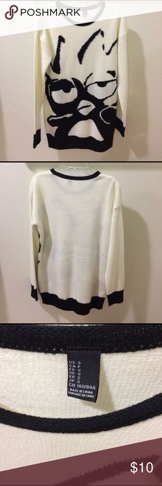 Forever 21 Batz Maru Sanrio knitted sweater Never worn. New condition. Cream and black color. Bought from Forever 21. Women's size S Forever 21 Sweaters Crew & Scoop Necks