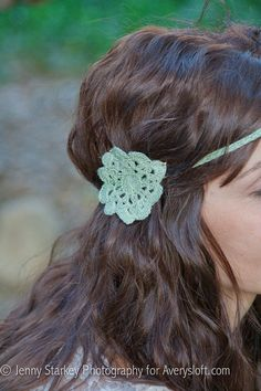 Crochet flower head band